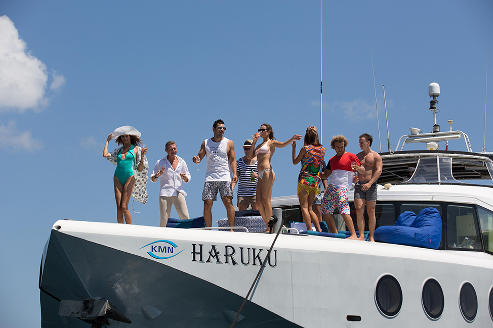 Image description: People partying on boat