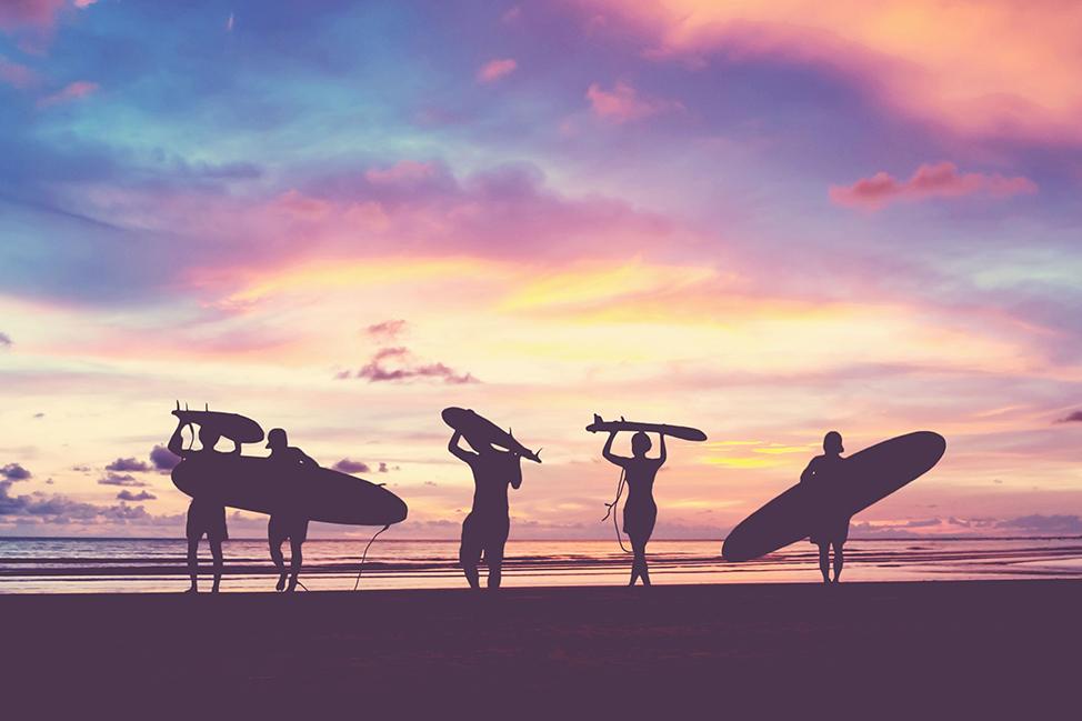 Image description: Surfing in Bali
