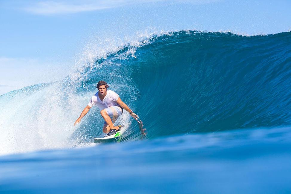 Image description: Bali surfer
