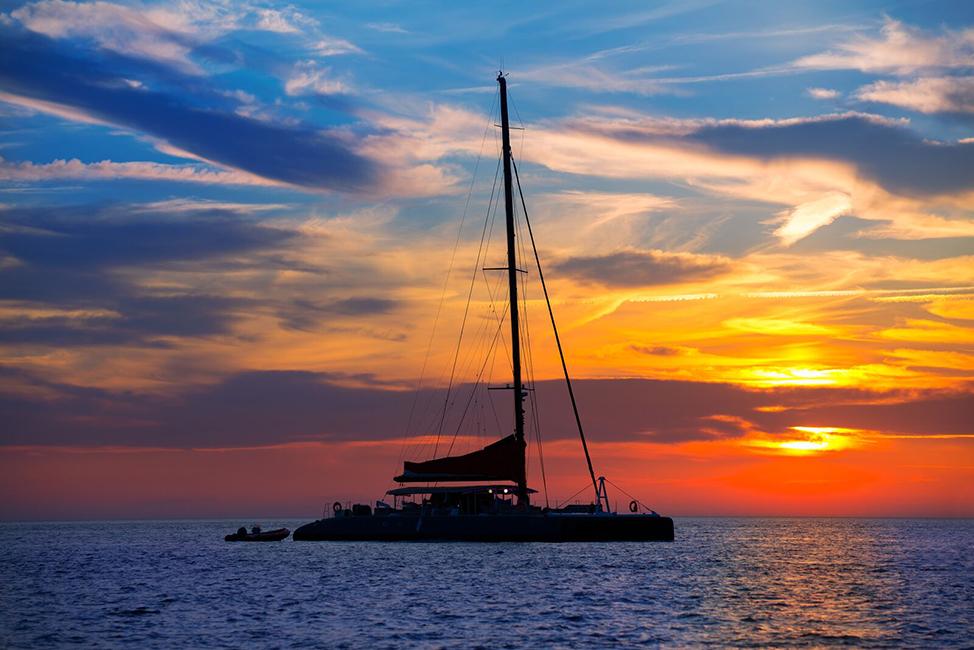 Image description: Sunset at sea