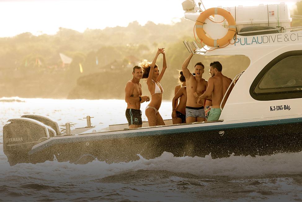 Image description: Party on boat