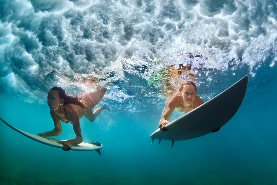 Image description: Surfers in Bali