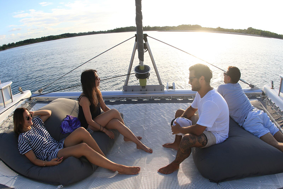 Image description: People on boat