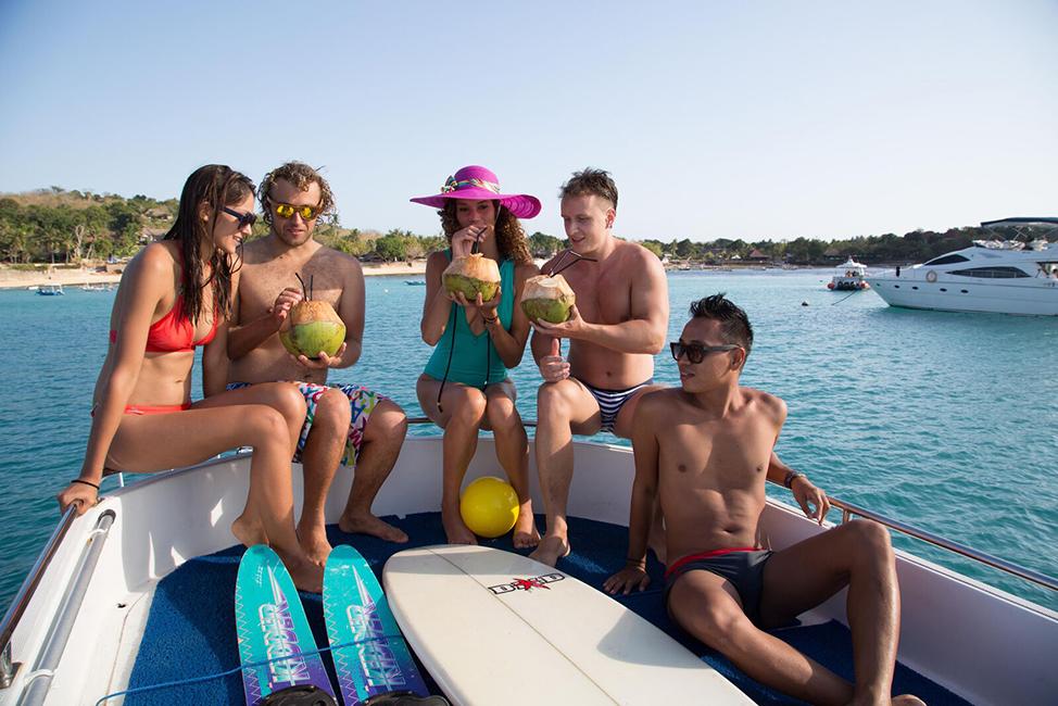 Image description: Boat party