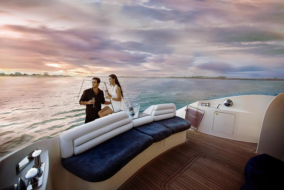Image description: People on deck of boat