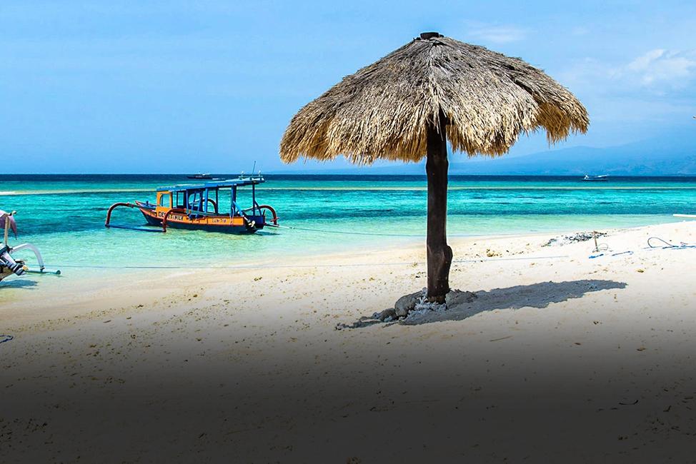 Image description: Beach scene